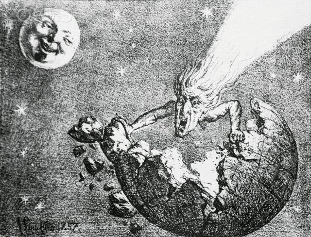 Perception of Earth and Comet Encounter from 1857